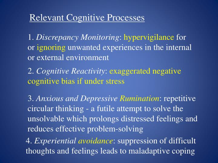 Relevant Cognitive Processes