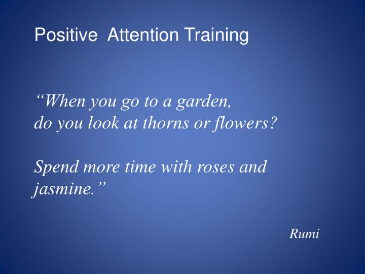 Positive  Attention Training