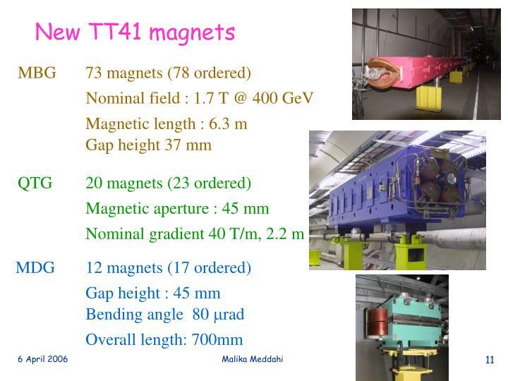 New TT41 magnets