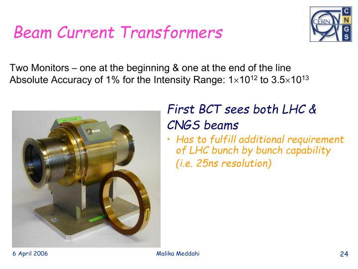 First BCT sees both LHC &