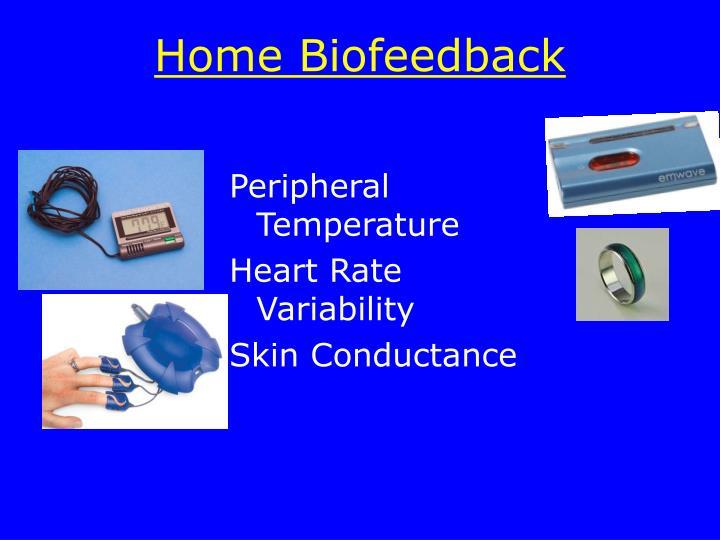 Home Biofeedback