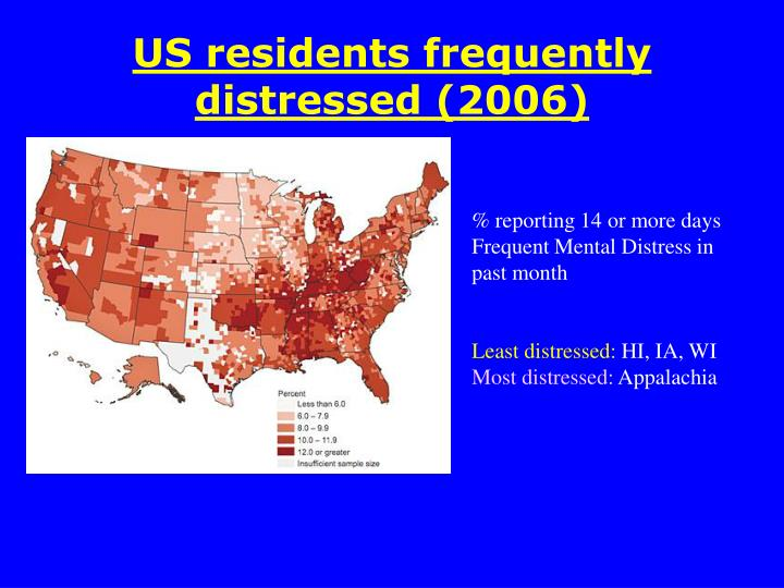 US residents frequently distressed (2006)