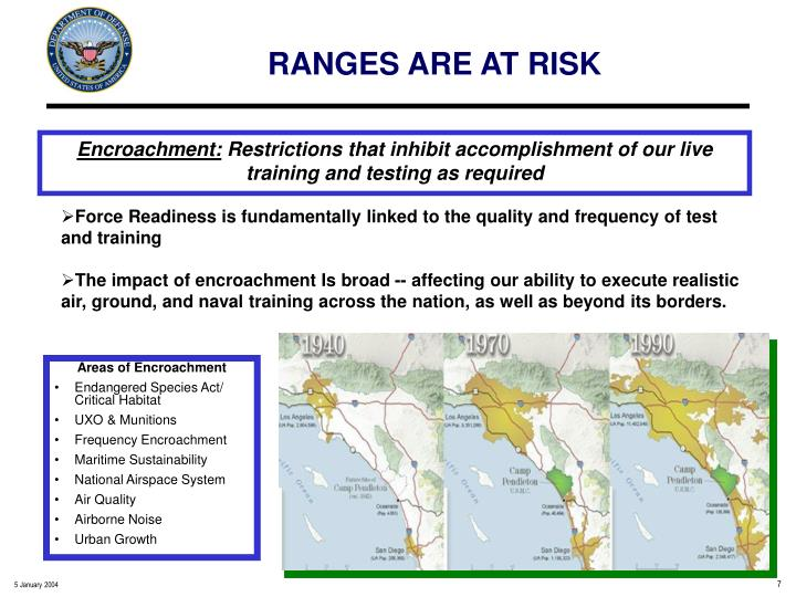 RANGES ARE AT RISK
