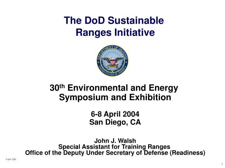 The DoD Sustainable