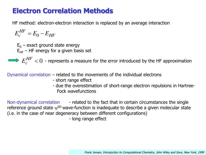 Electron Correlation Methods