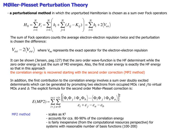 MØller-Plesset Perturbation Theory