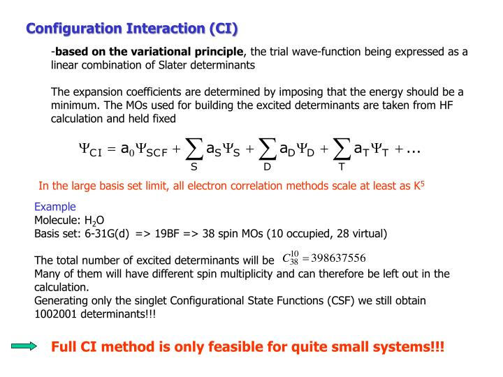 Configuration Interaction (CI)