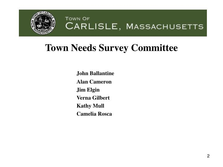 Town needs survey committee