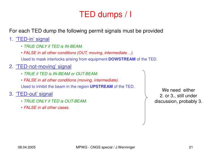 TED dumps / I