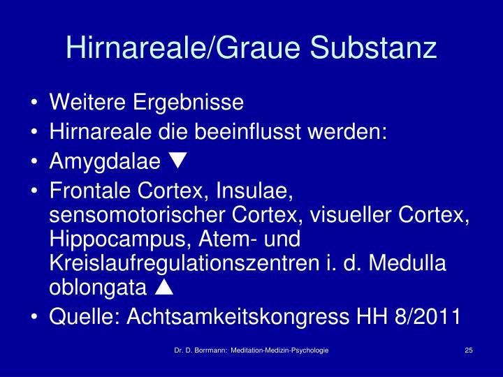 Hirnareale/Graue Substanz