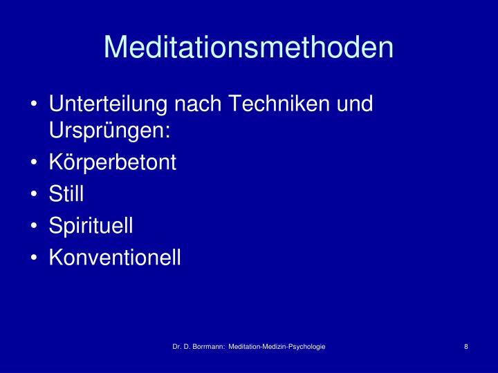 Meditationsmethoden