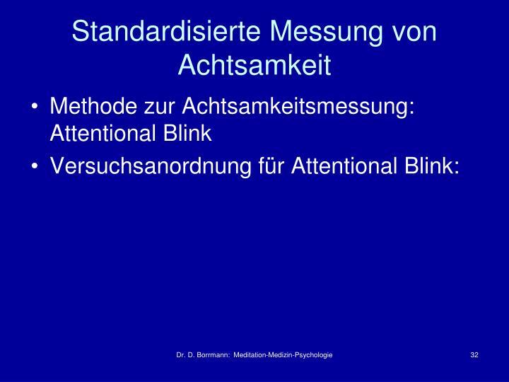 Standardisierte Messung von Achtsamkeit