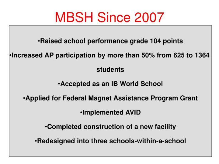 MBSH Since 2007