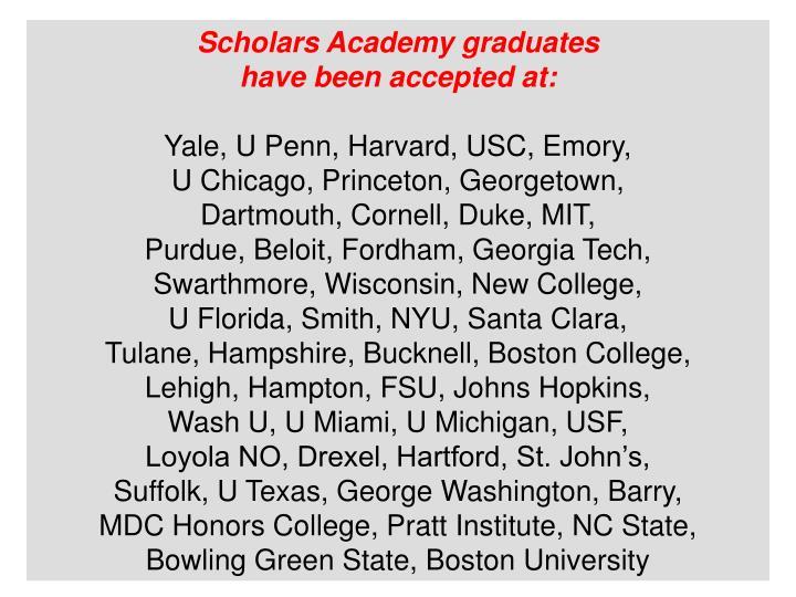 Scholars Academy graduates