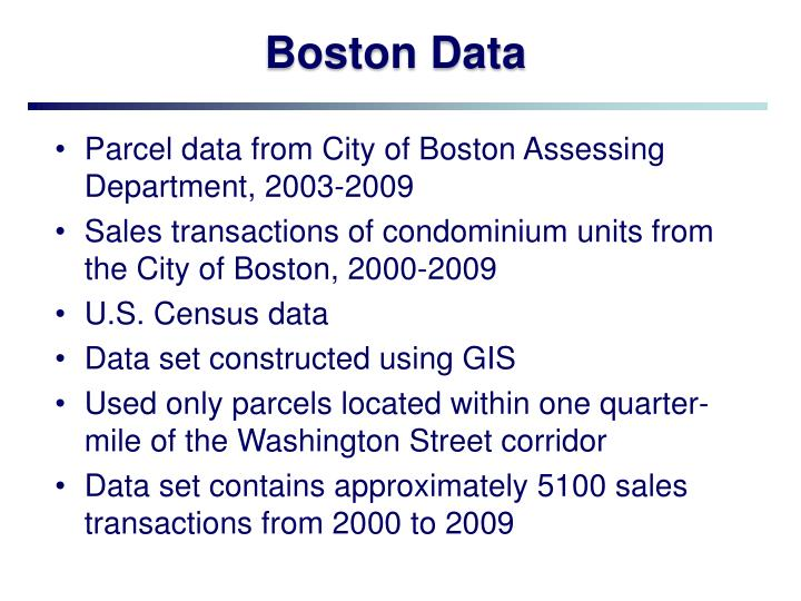 Boston Data