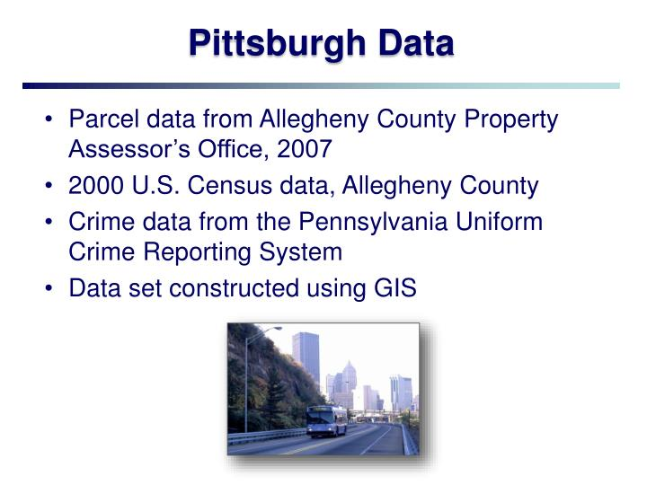 Pittsburgh Data