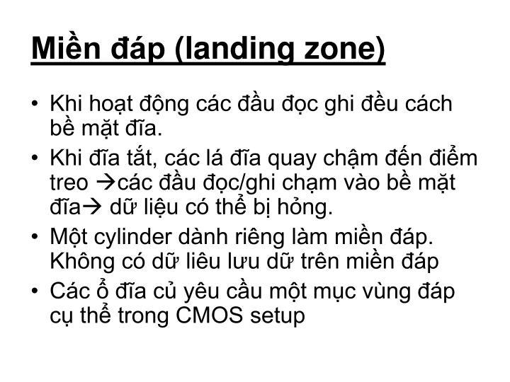 Miền đáp (landing zone)