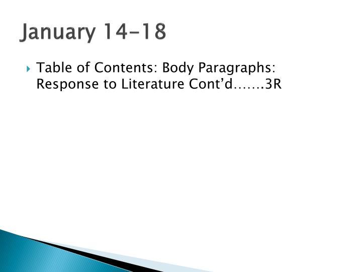 January 14-18