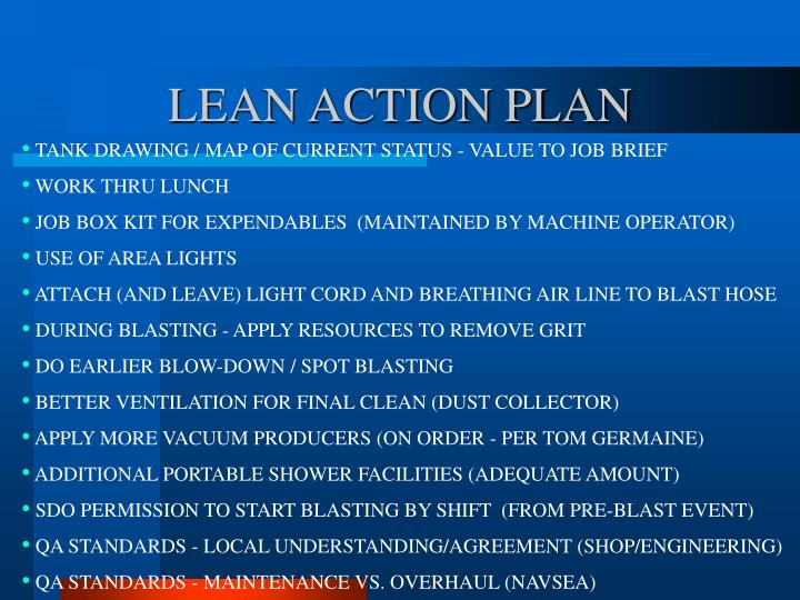 LEAN ACTION PLAN