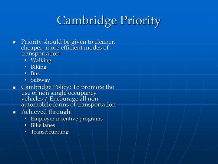 Cambridge Priority