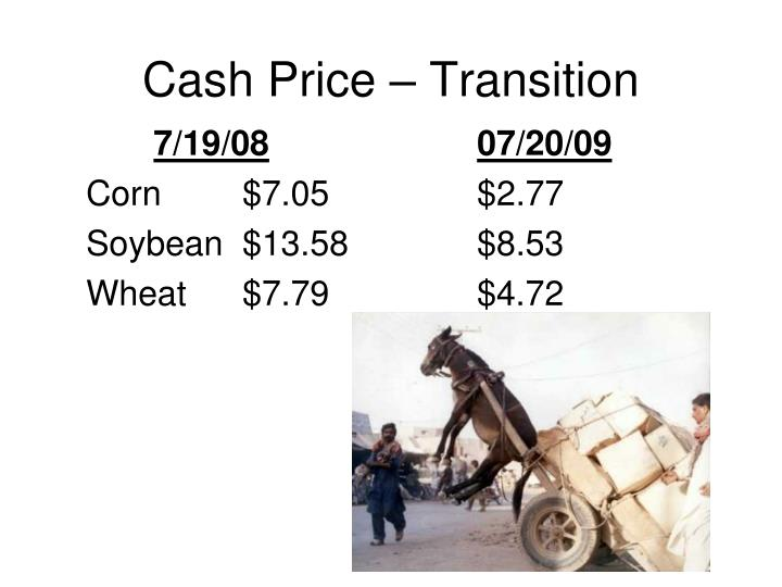 Cash Price – Transition