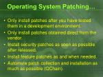 operating system patching1