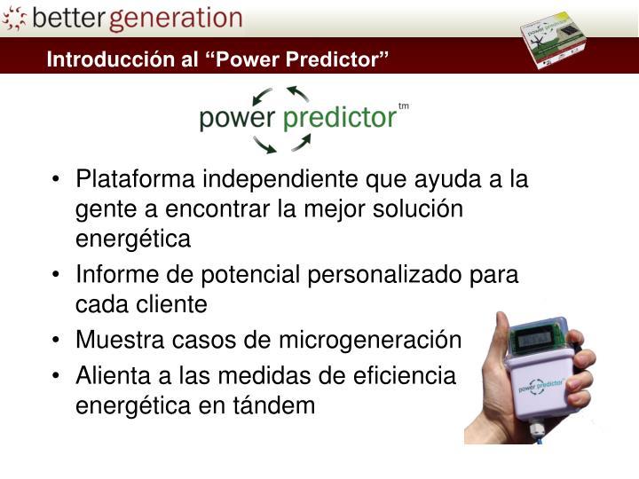 Plataforma independiente que ayuda a la gente a encontrar la mejor solución energética