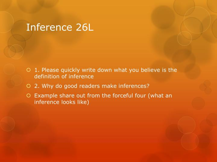Inference 26L