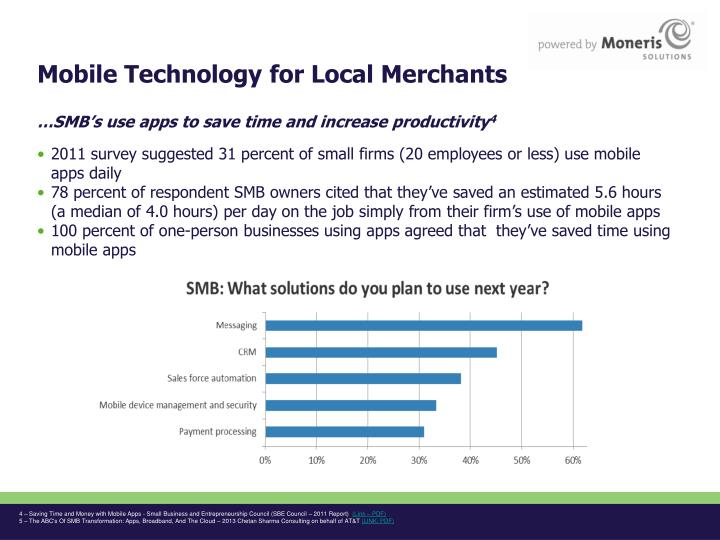Mobile Technology for Local Merchants