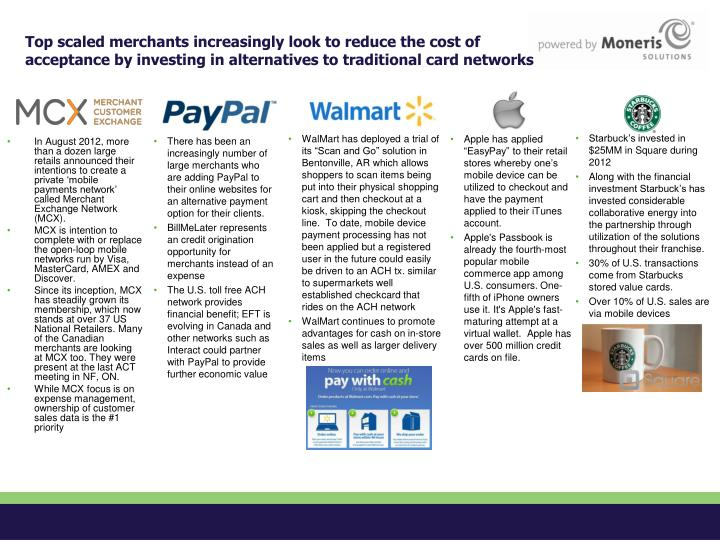 Top scaled merchants increasingly look to reduce the cost of