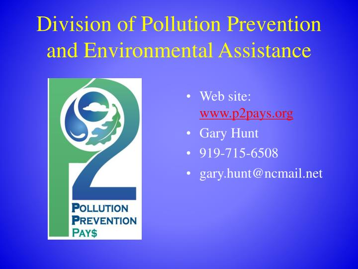 Division of Pollution Prevention and Environmental Assistance