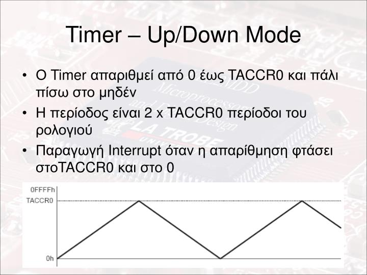 Timer – Up/Down Mode