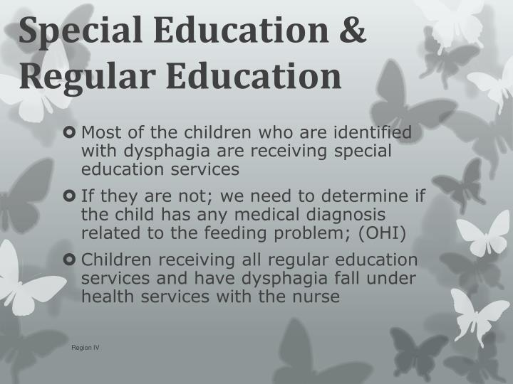 Special Education & Regular Education