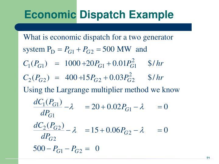 Economic Dispatch Example
