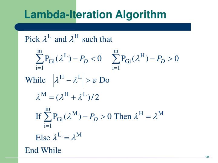 Lambda-Iteration Algorithm