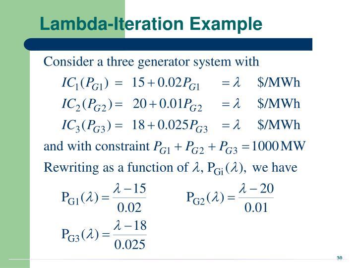 Lambda-Iteration Example