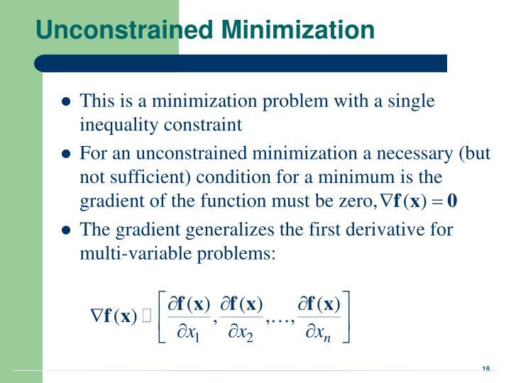 Unconstrained Minimization