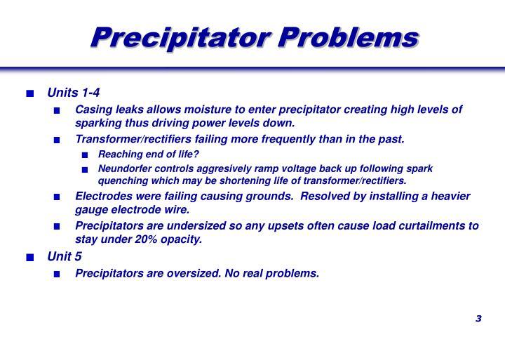 Precipitator Problems
