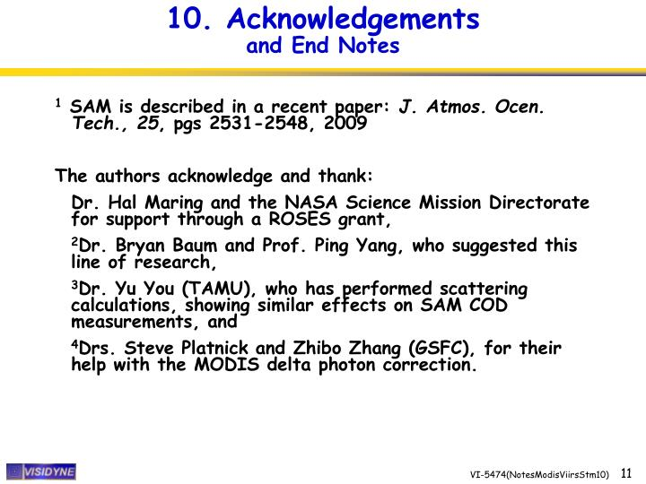 10. Acknowledgements