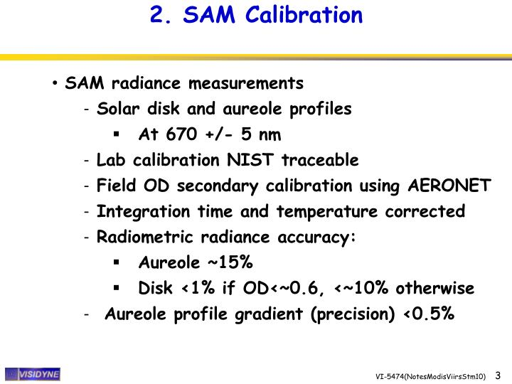 2. SAM Calibration