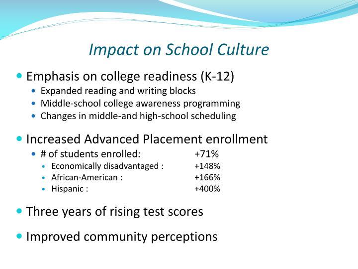 Impact on School Culture
