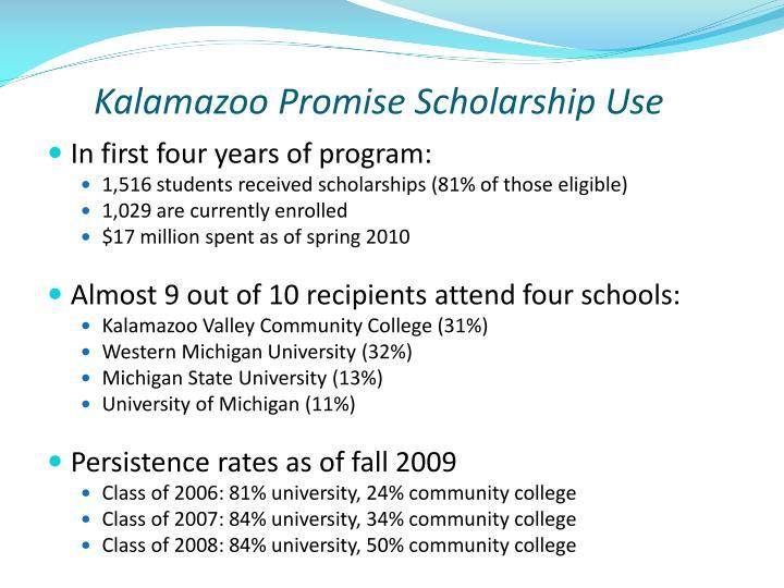 Kalamazoo Promise Scholarship Use