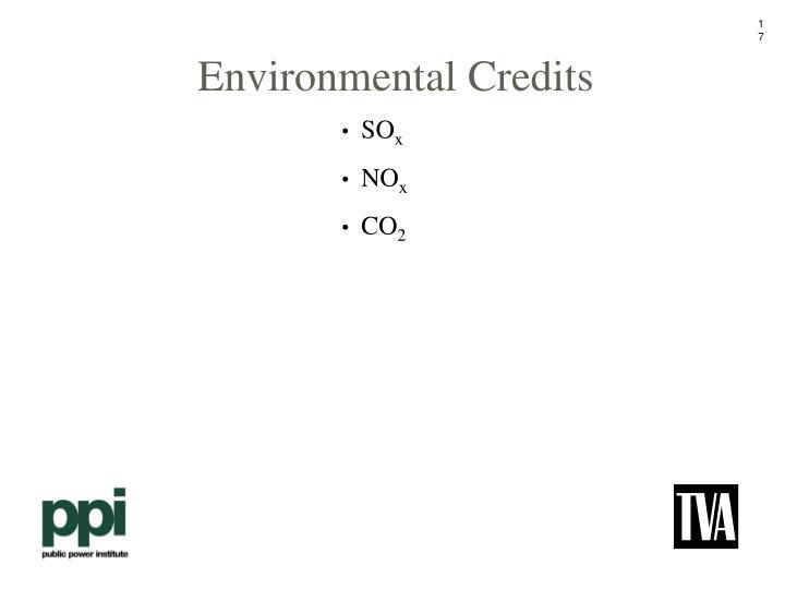 Environmental Credits