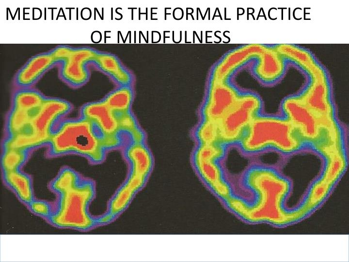 MEDITATION IS THE FORMAL PRACTICE