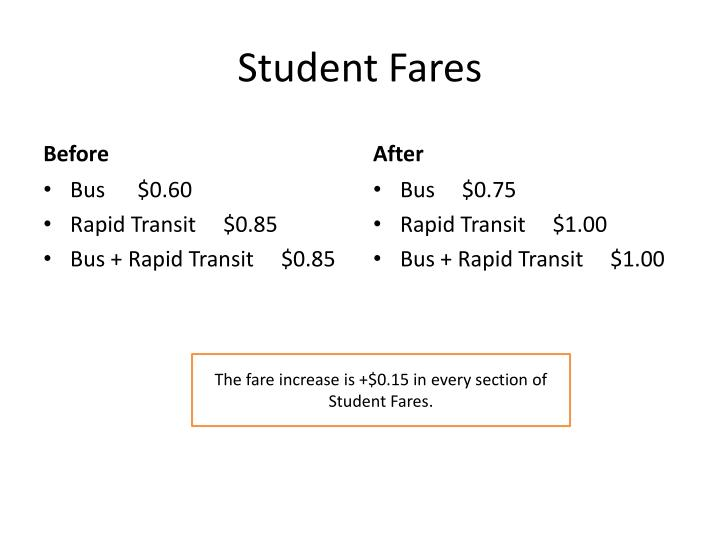 Student Fares
