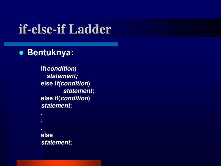 if-else-if Ladder