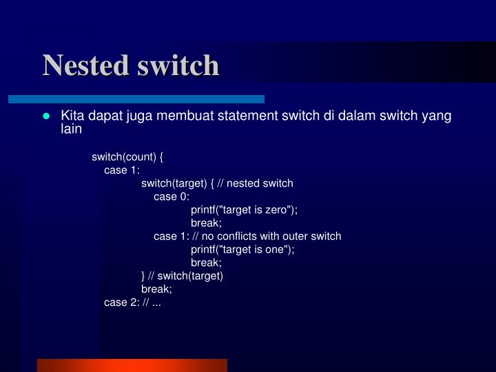 Nested switch