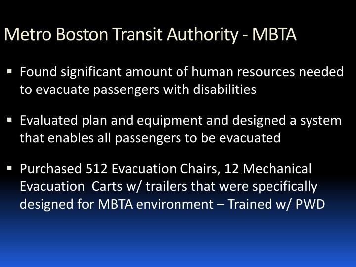 Metro Boston Transit Authority - MBTA