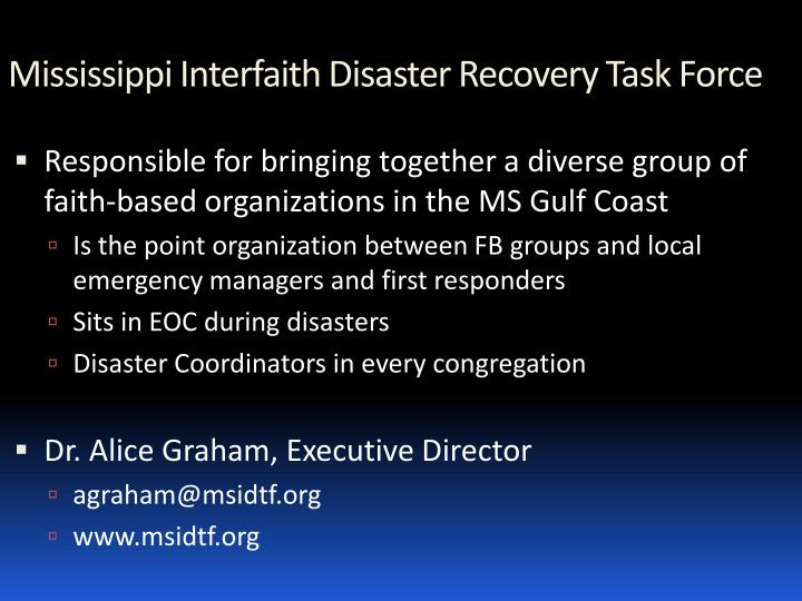 Mississippi Interfaith Disaster Recovery Task Force