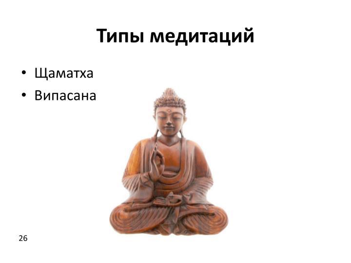 Типы медитаций